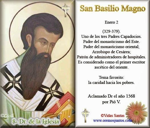Amor Eterno San Basilio Magno Obispo Y Doctor De La