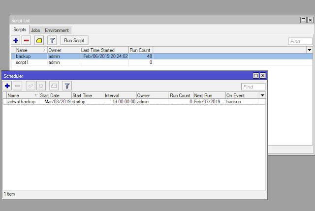 Script Auto Backup dengan FTP Mikrotik