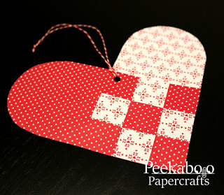Woven heart shaped ornament for Valentine's Day
