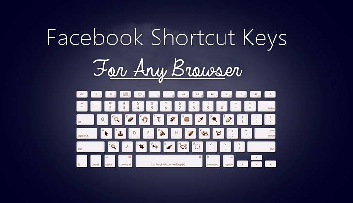 facebook shortcut key list For any Browser