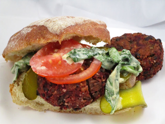 Beet and Black Bean High-Protein Burgers