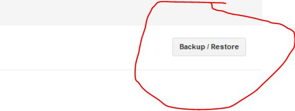 click on the backup and restore
