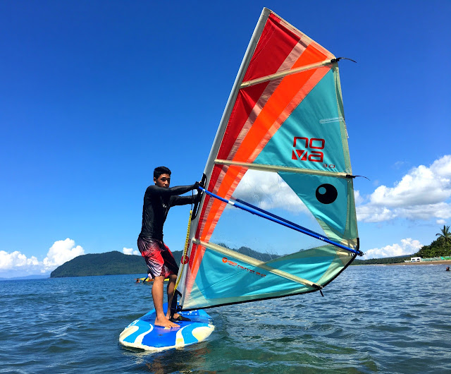 Windsurfing at Parientes Watersports in Hinunangan, Southern Leyte
