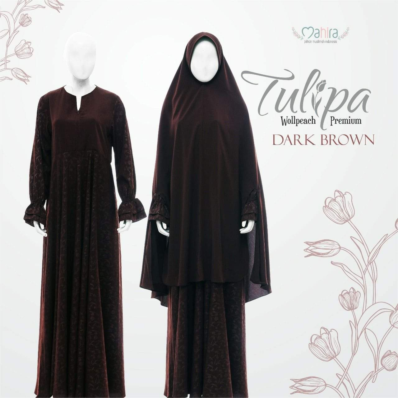 Mahira Tulipa Wollpeach Premium Dark Brown