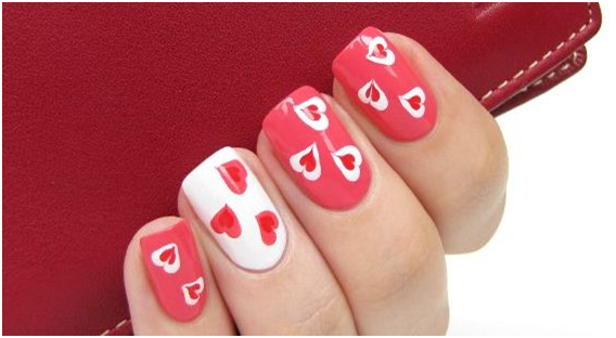 Love heart nail designs for valentines day mypanyu if you are all also trying to look special for your dear and love on this valentines day nail designs is also much important to look lovely to him prinsesfo Choice Image