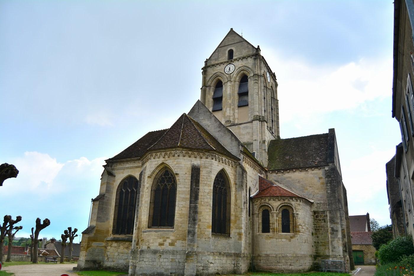 la fameuse église d'Auvers-sur-Oise