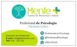 Tarjeta personal para psicólogos