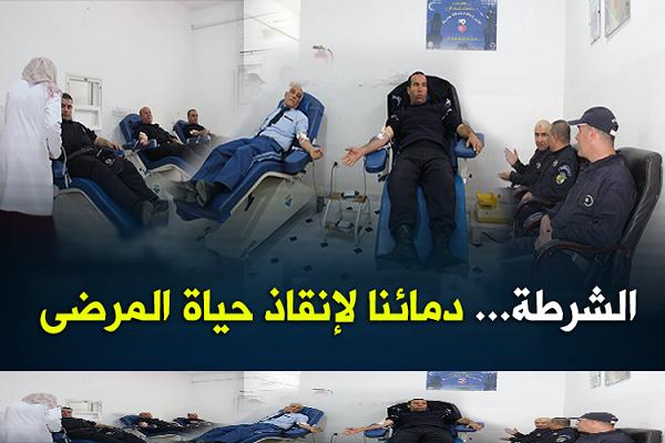 شرطة الشلف تتبرع بدماها بمناسبة اليوم المغاربي للتبرع بالدم