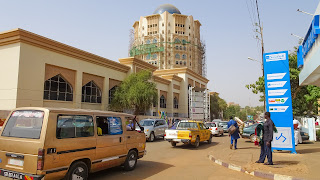 Random street in the center of Niamey