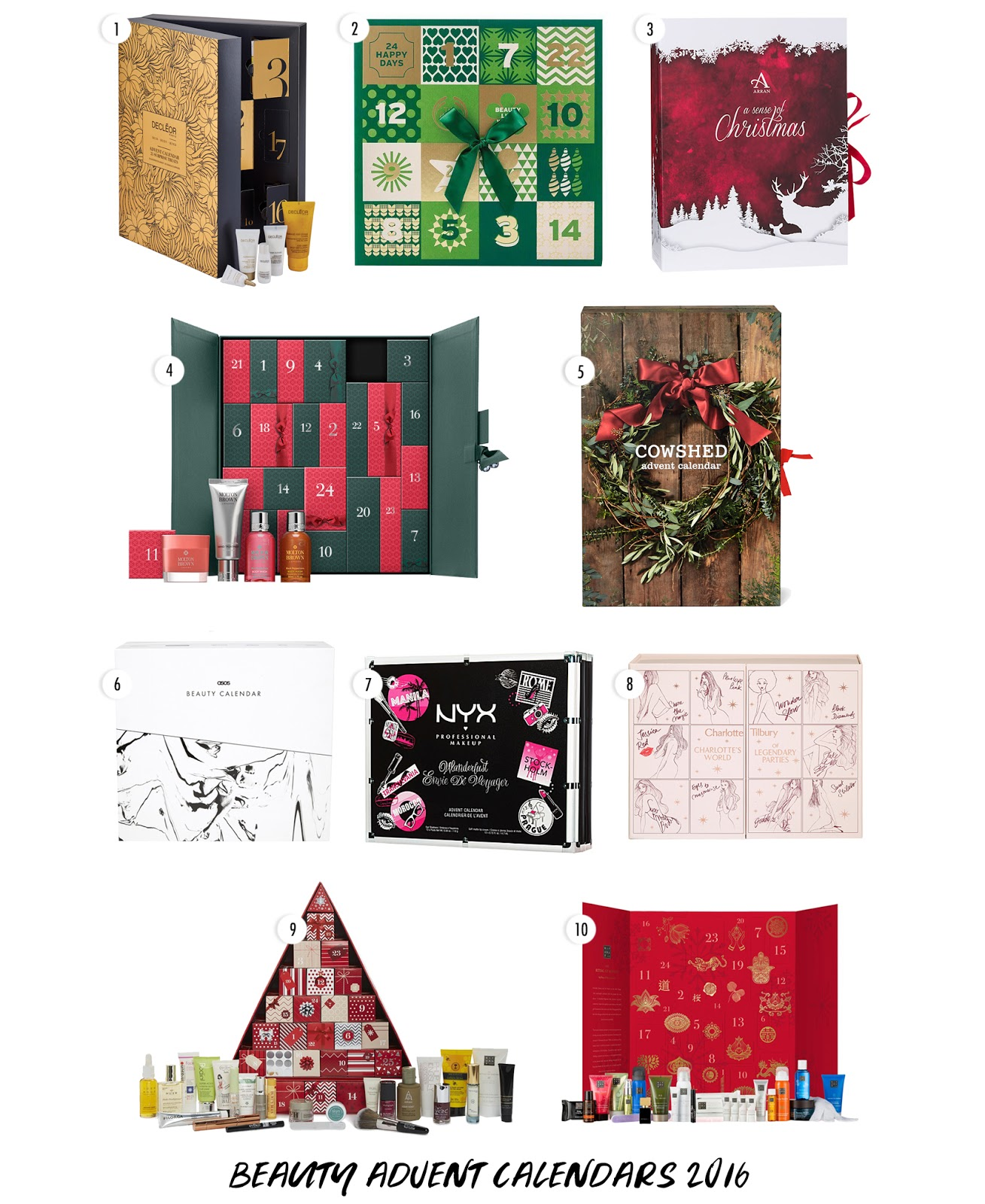 Top 10 Beauty Advent Calendars 2016