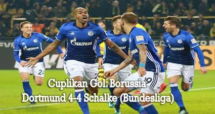 Cuplikan Gol: Borussia Dortmund 4-4 Schalke (Bundesliga)