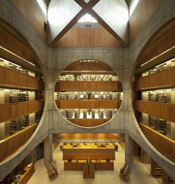 建築家が設計した本を読みたくなる、ステキな図書館6選 フィリップ・エクセター・アカデミー図書館 ルイス・カーン