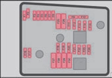 skoda laura - schematic representation of fuse carrier in engine compartment