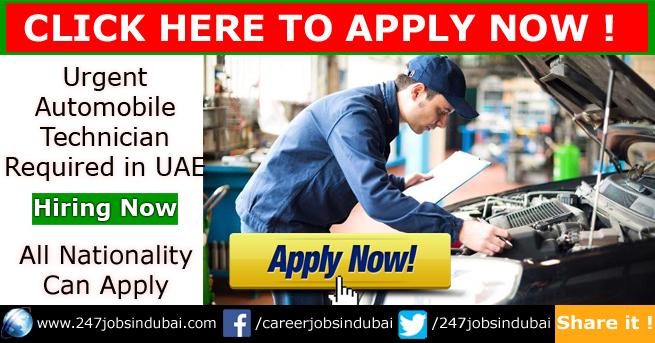 Jobs Vacancies in Automobile Dubai