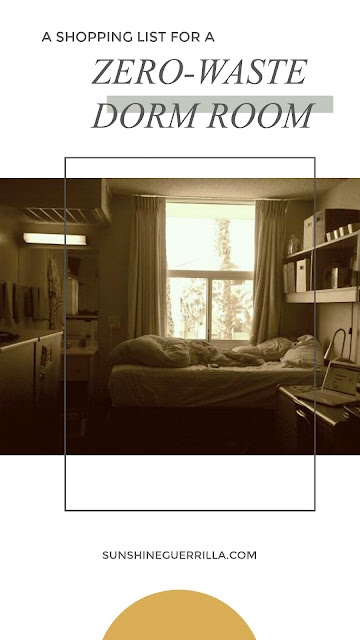 zero waste dorm room eco-friendly dorm room