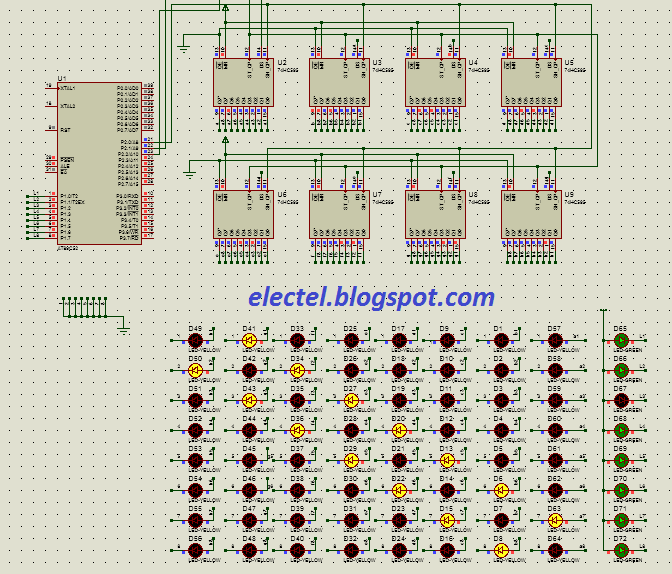 Sharing Assembly Code for Led Cube 8x8x8 using 8051 Microcontroller