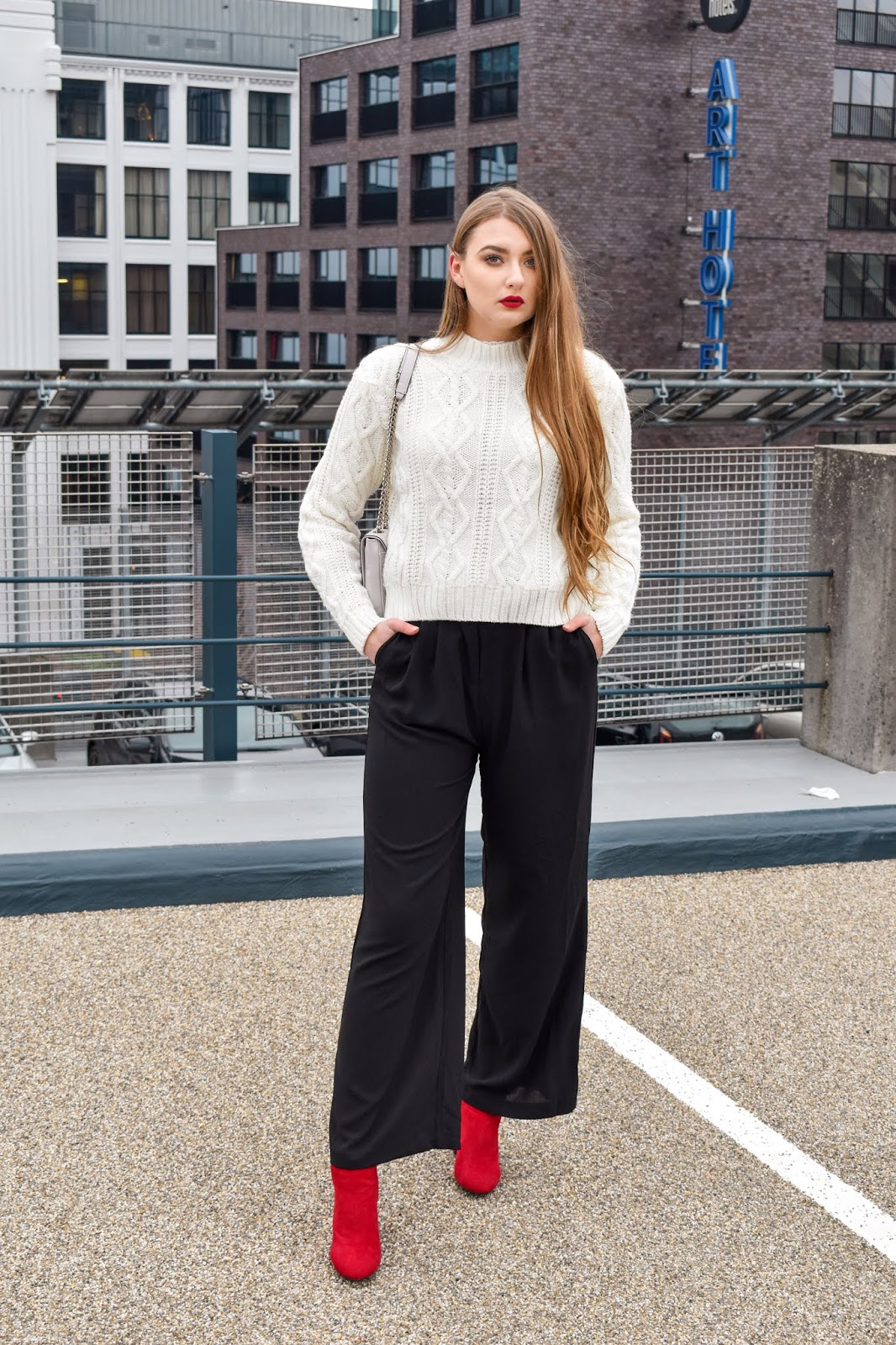 sweter stylizacje