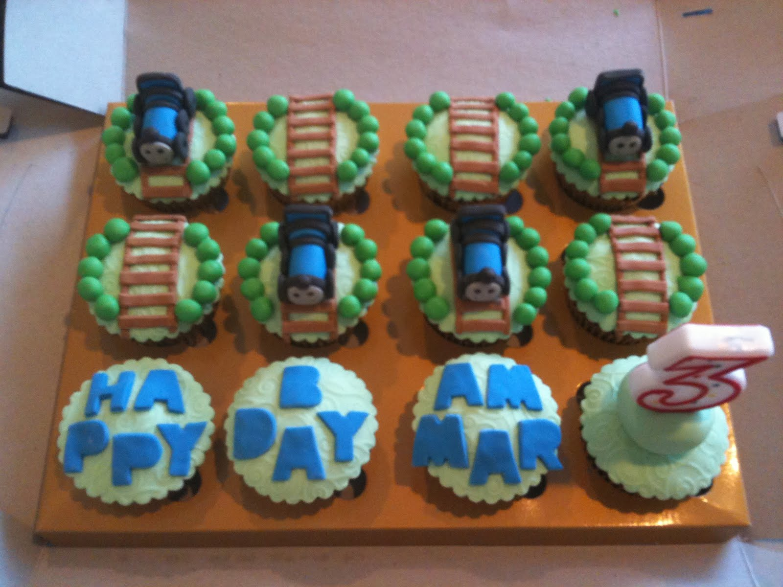 Scrumptious Homemade Thomas The Train Cupcakes