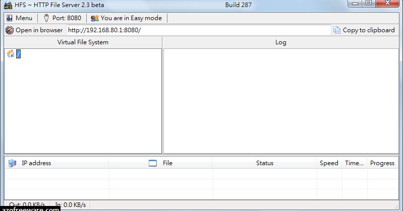 HFS 2.2f.155 免安裝中文版 (2.3.297 英文免安裝版) - 檔案分享軟體 (解壓縮密碼 azo) - 阿榮福利味 - 免費軟體下載