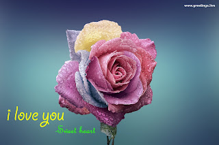 Sweet Love wishes images for Girlfriend rose flower