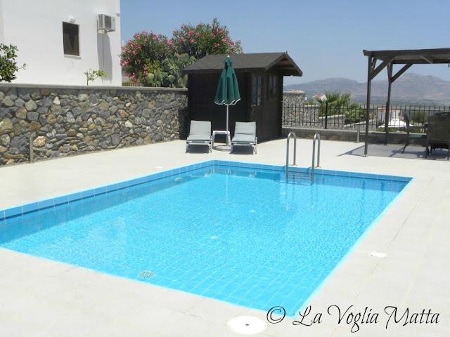 piscina della villetta