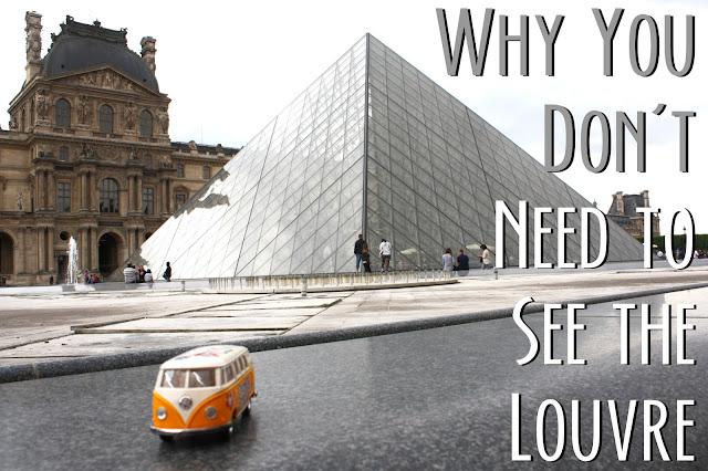 Yellow Van in front of Louvre museum