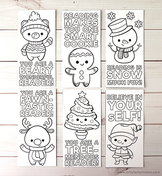 Free Printable Christmas Bookmarks