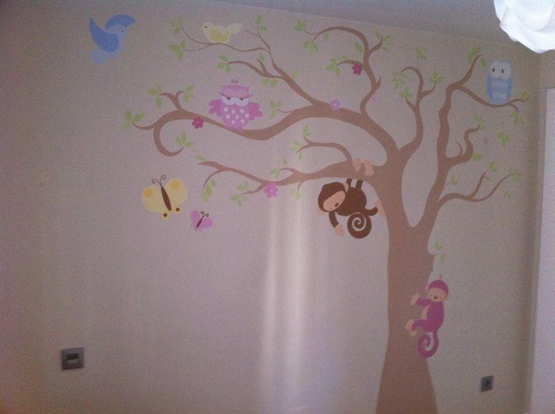 dibujos pintados en paredes