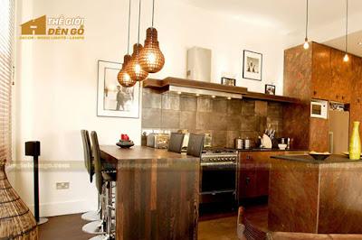Thế Giới Đèn Gỗ - 8 mẫu đèn trang trí gỗ cho phòng ăn đẹp lung linh 11