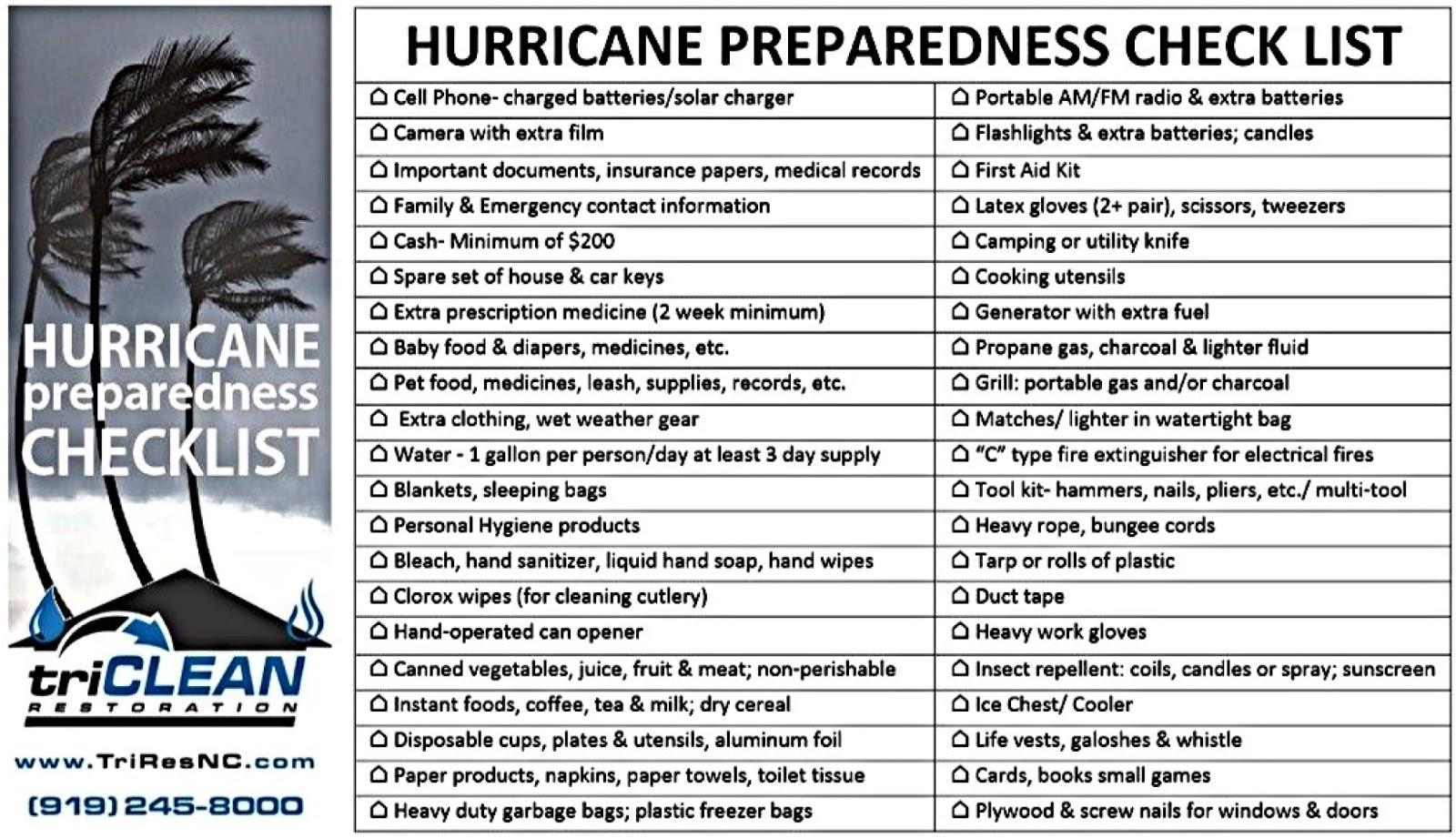 Prepare For Hurricane List Food