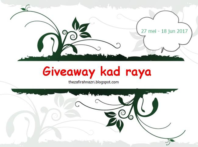 Giveaway Kad Raya by Zafirah Nazri