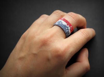 купить женское кольцо ручной работы современные украшения из бисера интернет магазин