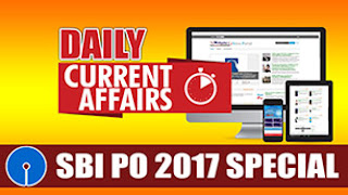 DAILY CURRENT AFFAIRS | SBI PO 2017 | 13.04.2017