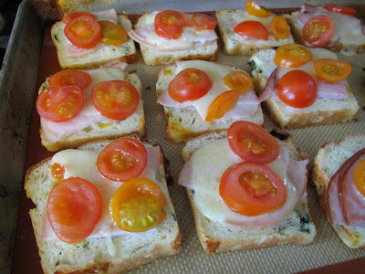Gluten-Free Rustic Open-Faced Sandwiches on Jalapeno Cheddar Bread