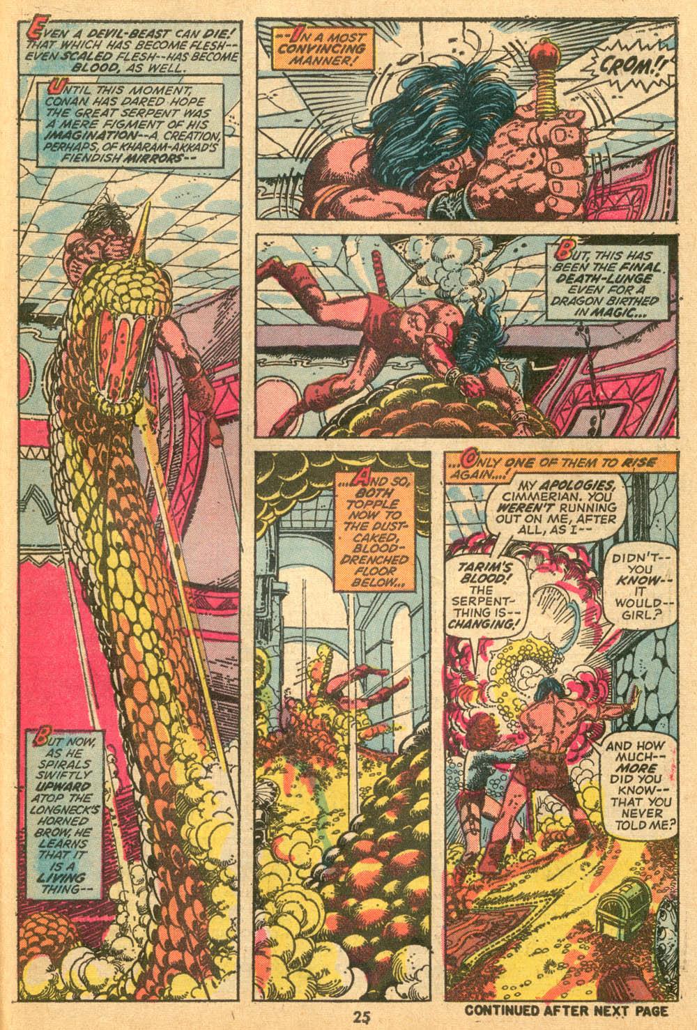 Conan the Barbarian (1970) Issue #24 #36 - English 19