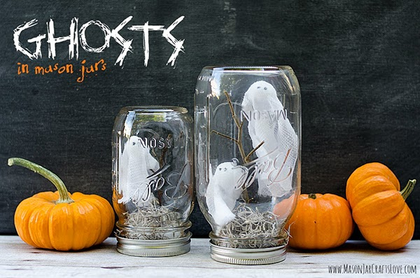 Ghosts in a jar DIY