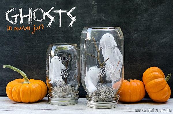 Ghosts in a jar DIY