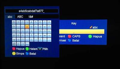 Memasukkan Biss Key di Matrix Garuda Orange