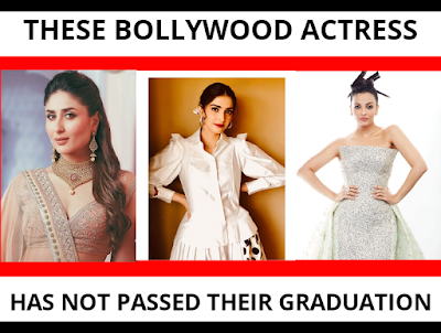 These Bollywood Actress has not Passed the Graduation!