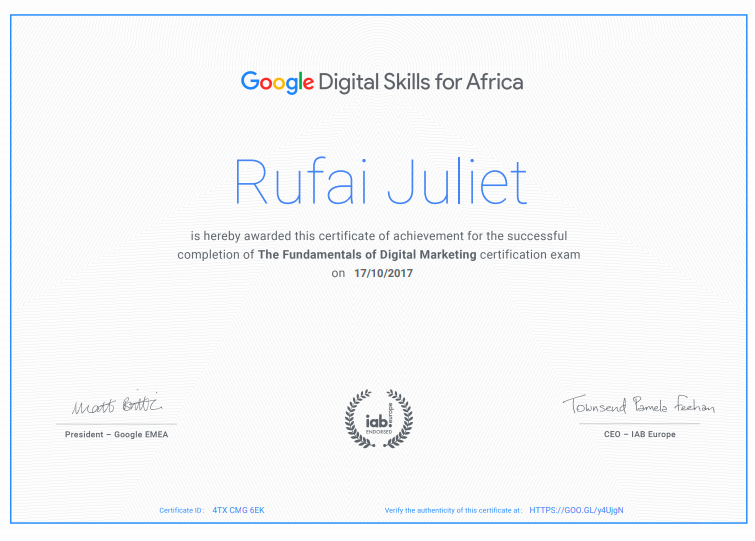 GOOGLE DIGITAL SKILLS AWARD