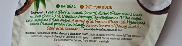 skład maski kokosowej