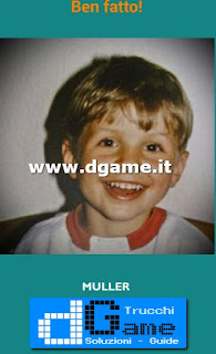 Soluzioni Guess the child footballer livello 23
