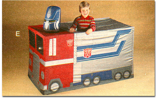 Hereu0027s another play tent I did not know existed until putting together this list. It does look a little weird to see Optimus Primeu0027s head on top of the cab ... & The Best Themed Play Tents of the u002780s - Rediscover the 80s
