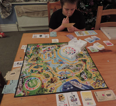 playing board games at xmas