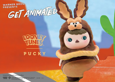 """Get Animated"" Looney Tunes Wile E. Coyote & Road Runner Vinyl Figures by Pucky x ToyQube x Soap Studio"