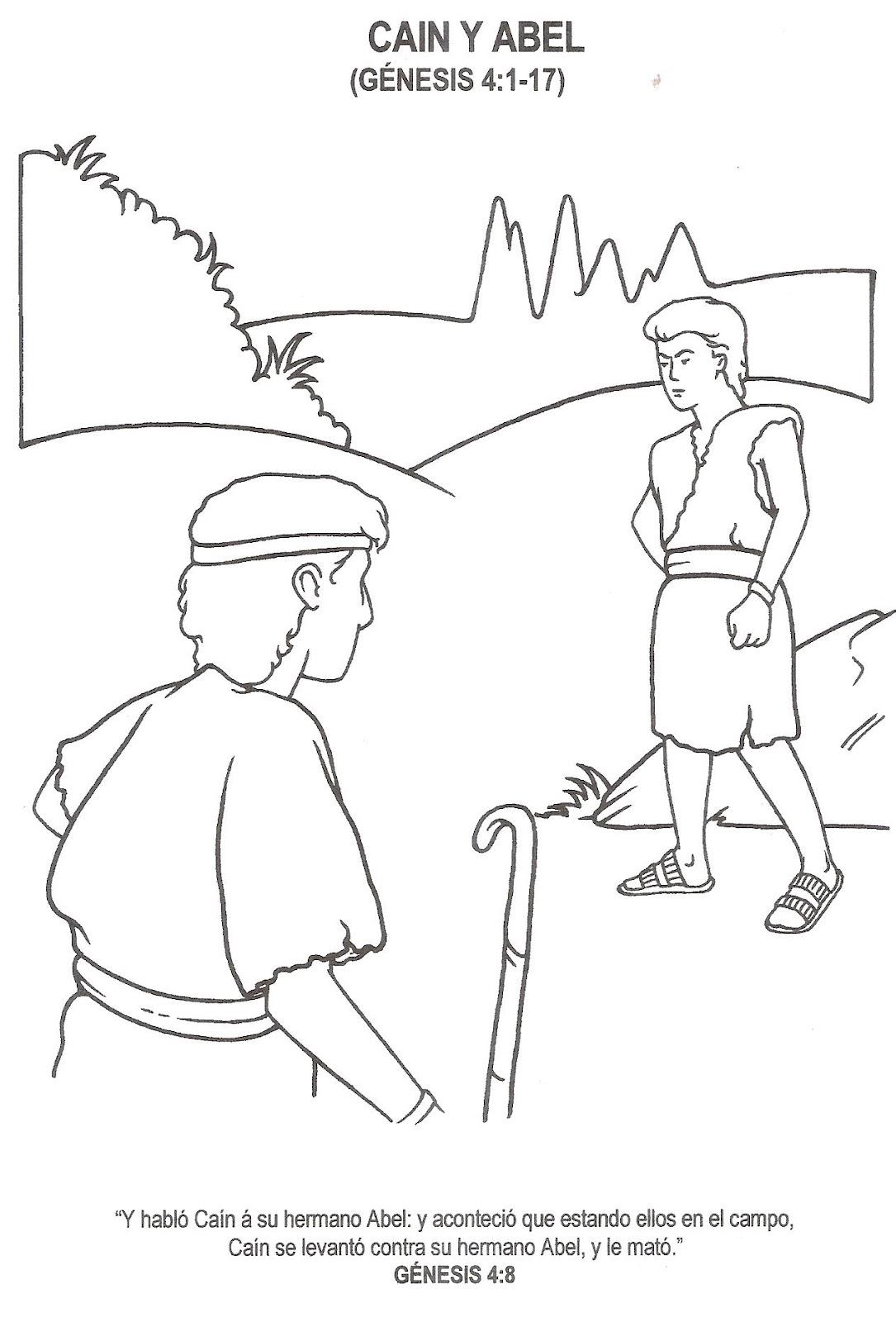 Infancias Cain Y Abel Para Pintar