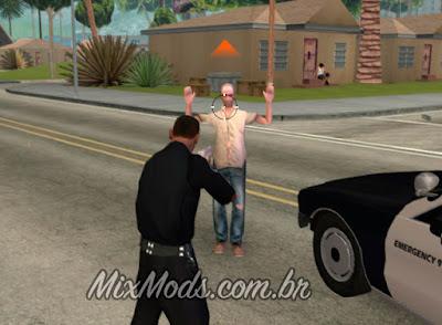 gta sa mod cleo polícia ser policial prender ladrão
