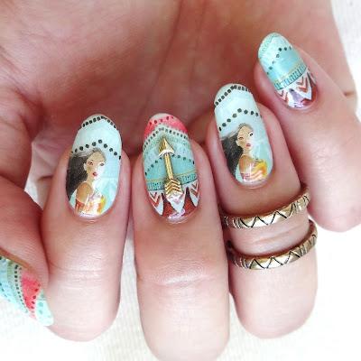 Pocahontas Nail Art