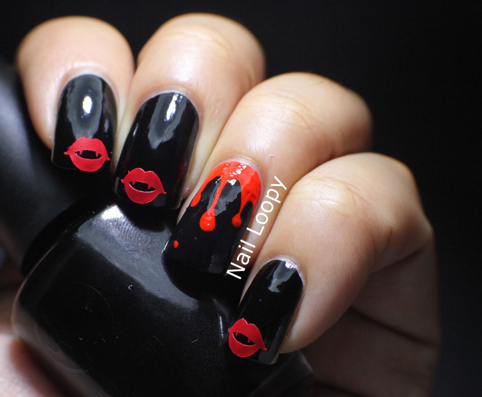 Nail Loopy Vampire Lips Nail Vinyl Halloween Nails