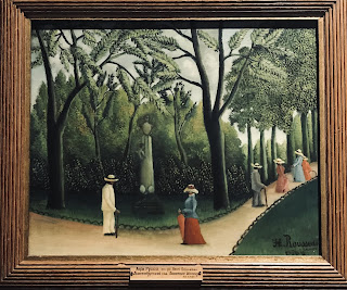 The Hermitage Museum's oil on canvas by Henri Rousseau entitled 'The Luxembourg Gardens, the monument to Chopin', 1909